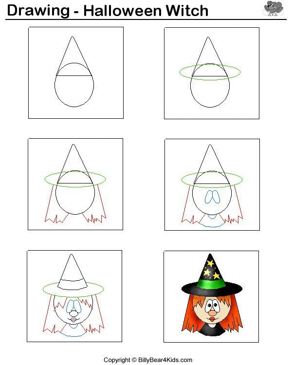 Muzische vorming: hoe teken ik een heks? witch.gif - 22919 Bytes