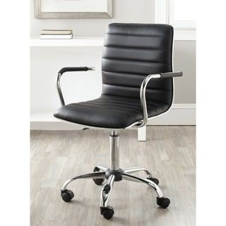 Shop for Safavieh Jonika Black Adjustable Height Desk Chair. Get free delivery at Overstock.com - Your Online Office Furniture Store! Get 5% in rewards with Club O! - 15254368