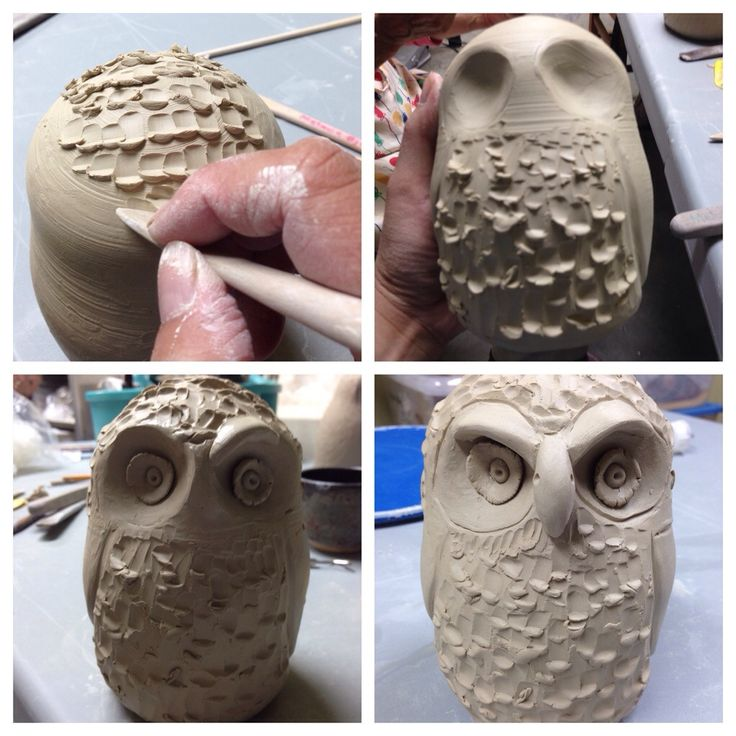 Potters and Friends: Making owls; 2 of 3