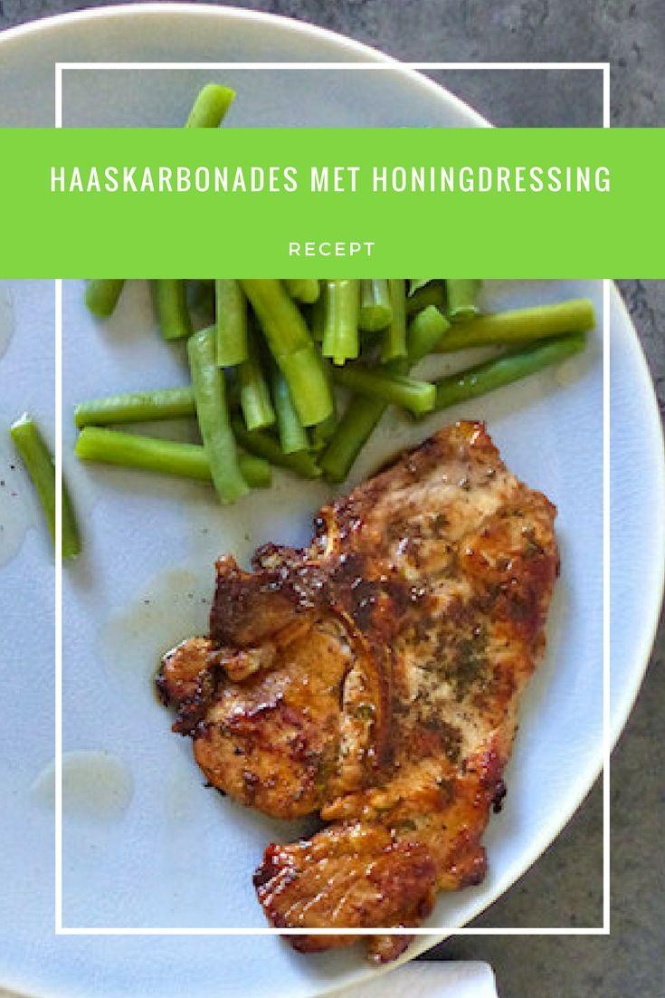 Recipe in Dutch: Recept | Haaskarbonade met honingdressing