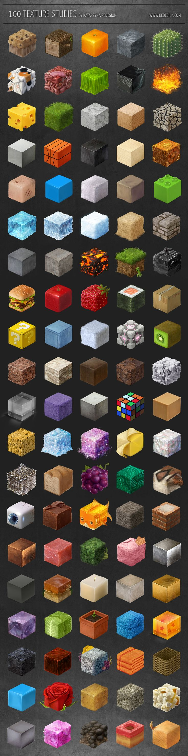 100 texture studies by tanathe.deviantart.com on @deviantART