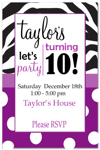 24 best images about birthday party invitations – Purple Party Invitations