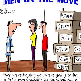 Labeling is always important! www.michiganmovers.com    #moving #movingtruck #menonthemove #funny #packing #humor #meme #MovingHumor #comic #MovingTips
