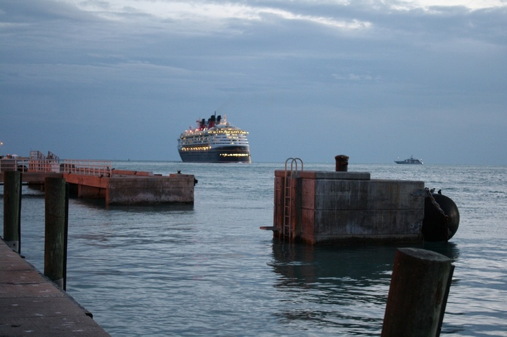 Cruise Vacations Features A Disney Cruise Ship Leaving Key West Florida at Sunset - See More @gr8traveltips