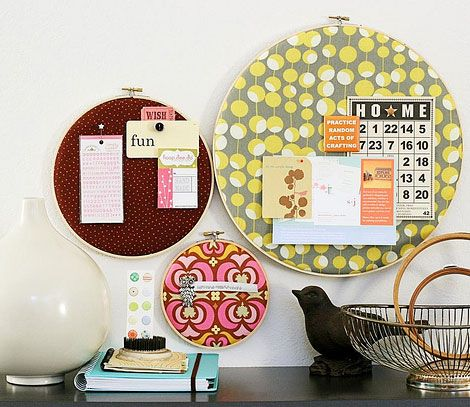 Embroidery hoop artSewing Room, Pin Boards, Cute Ideas, Inspiration Boards, Bulletin Boards, Memo Boards, Embroidery Hoops, Bulletinboards, Crafts