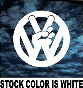vw sticker trucker girls | VW Volkswagen Peace Sign Decal Sticker Car Truck Laptop Jetta GTI Cute ...