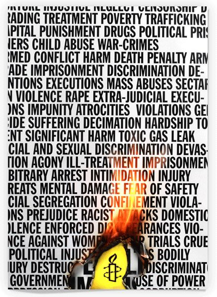 Amnesty International poster. #humanrights