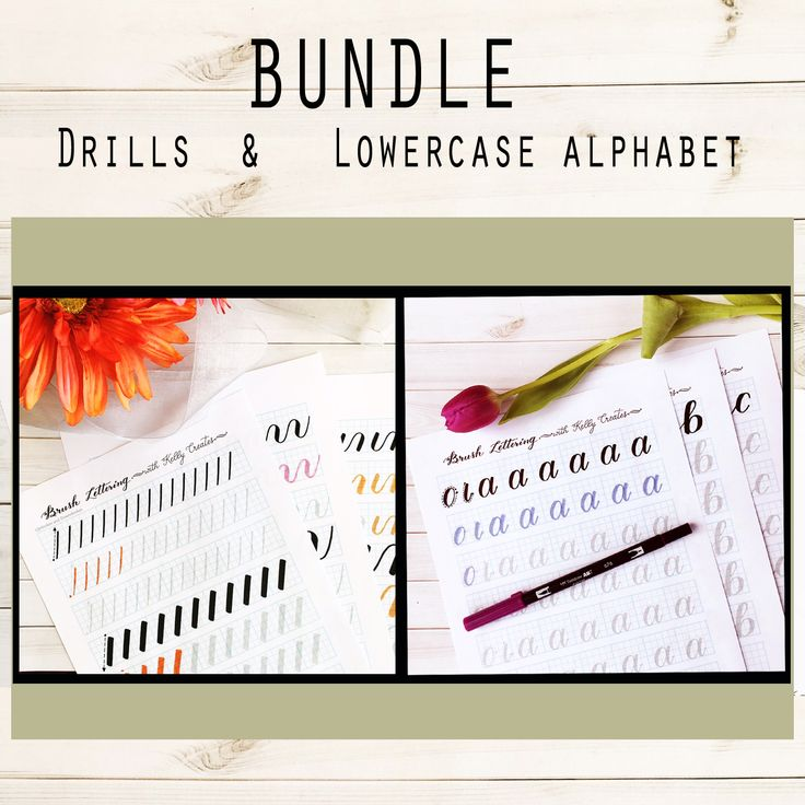 Lettering Practice Bundle from Kelly Creates