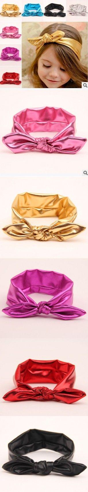 2015 Stylish lovely baby hair accessories rabbit ear headband headscarf baby headbands knot hair band for girl free shipping $1.59