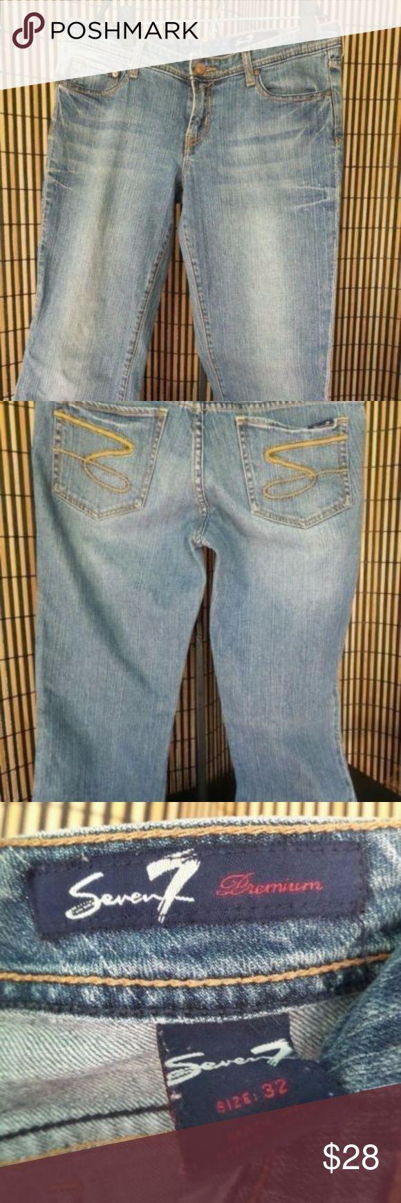 7 SEVEN WOMEN'S JEANS PREMIUM SZ 32 X 26  BOOTCUT 7 SEVEN WOMEN'S JEANS PREMIUM SZ 32 X 26  BOOTCUT 9 in Rise Seven7 Pants Boot Cut & Flare