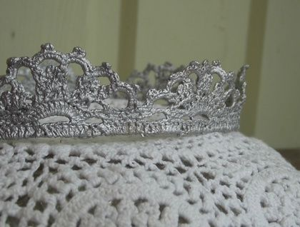 Silver Lace Crown for a Toddler