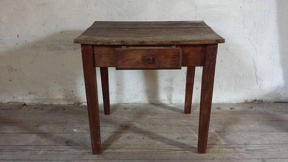Mesa francesa antigua primitiva mesa rústica Francés lateral