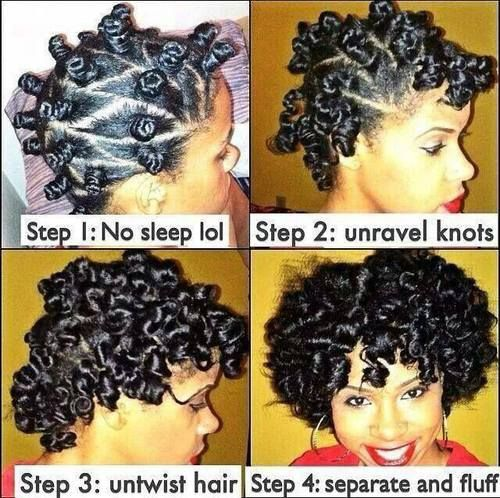 Bantu knots are adorable and great for making your curls look amazing.