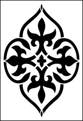 Motif n 13 pochoir pochoir biblioth que gothique plage for Acheter pochoir mural