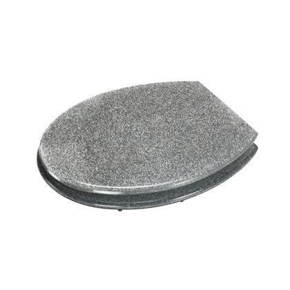 Silver Glitter Toilet Seat at Homebase
