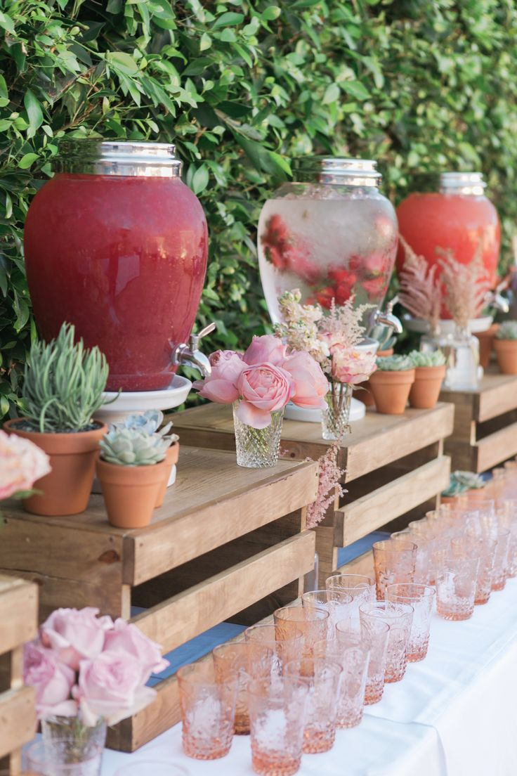 SUMMER BABY SHOWER by TWINK + SIS #drinktable #bar