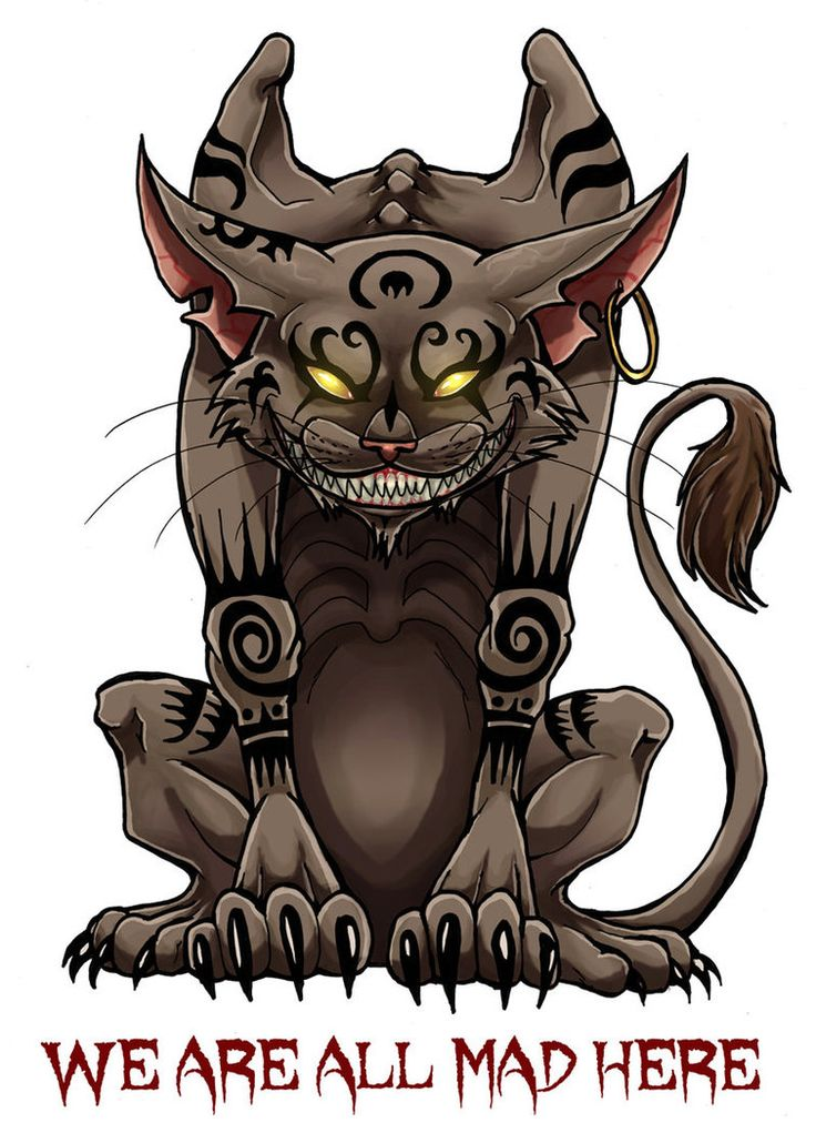 Alice madness returns - Cheshire cat tattoo by LadyFiszi on DeviantArt