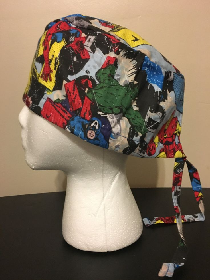 Marvel Universe Action Scene Scrub Cap, Surgery Cap, Scrub Hat, Scrub Caps by QuiltsbyHayley on Etsy