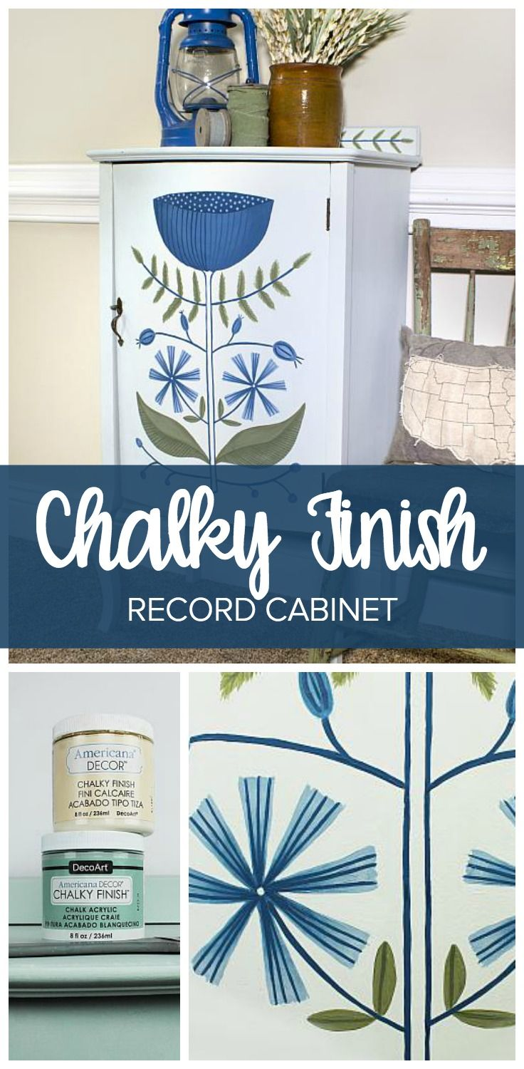 Create this project with Americana Decor® Chalky Finish™ — Use decorative painting techniques using Americana Decor Chalky Finishes for an updated cabinet.