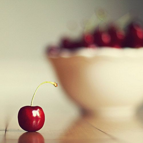"""sweet cherry""  Fine Art Food Photography by Marianne LoMonaco via Etsy."