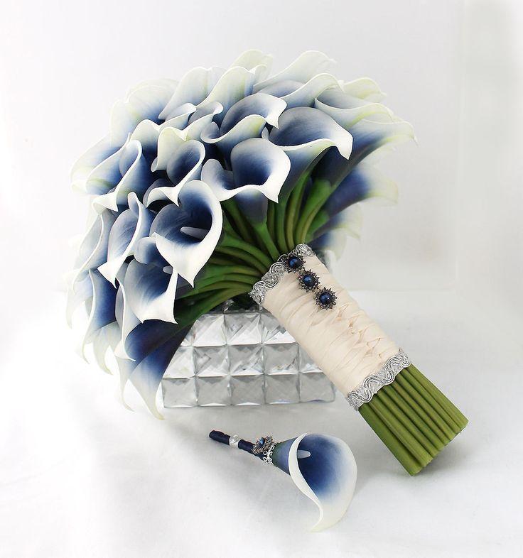 Dark Blue Bridal Bouquets 47