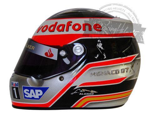 Fernando Alonso 2007 Monaco F1 Replica Helmet Scale 1:1