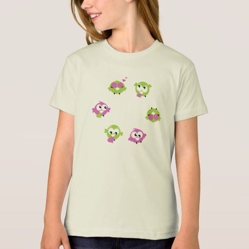 Girls organic T-Shirt with Love Birds