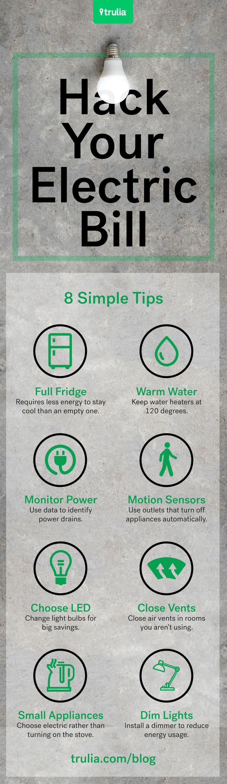 Start using these hacks today to save big bucks! The average American spends $110 each month on their electric bill. But, it doesn't have to be that way. Getting a cheaper electricity bill is possible, especially if you use these 9 easy ideas. Click the link to see them all.