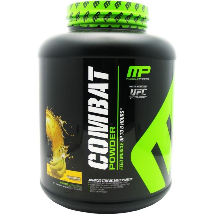 Muscle Pharm Combat Protein Powder Banana Cream (Ivory) 4 lbs