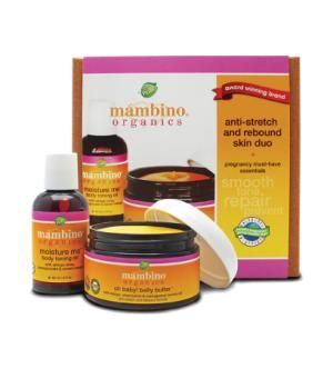 Mambino Organics Anti-Stretch & Rebound Duo Size: 2 piece Mambino Organics is a truly organic skincare brand specially formulated for Mommies and Babies.