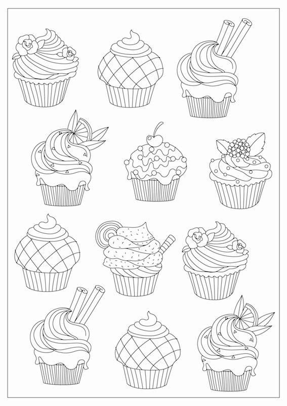 December Coloring Challenge Bake Off Cupcake Coloring Pages