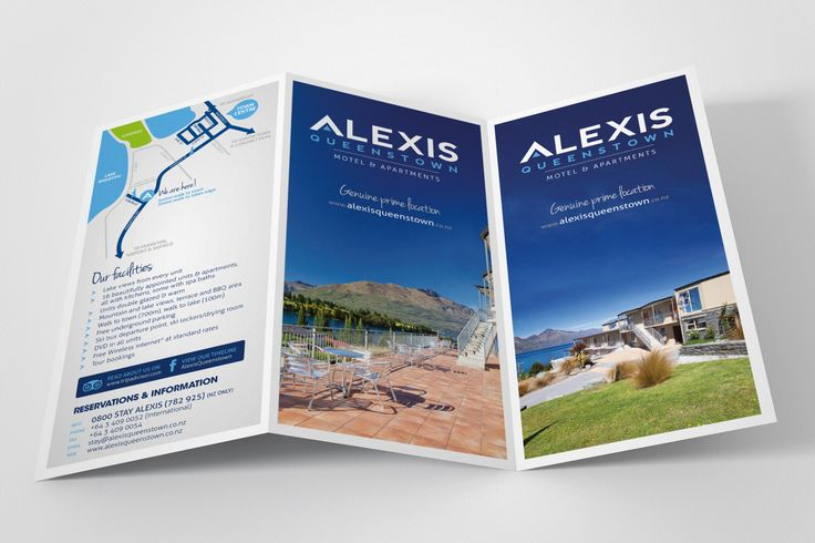 Accommodation brochure design & print management - outside spread