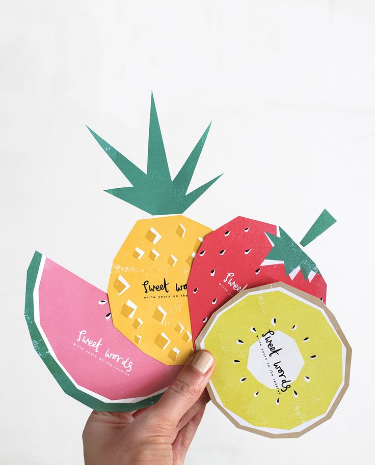 Free fruit printable note cards | Bespoke Bride