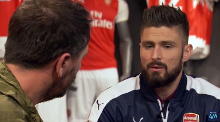 Arsenal striker Olivier Giroud talks football boots with Soccer AM (Video)