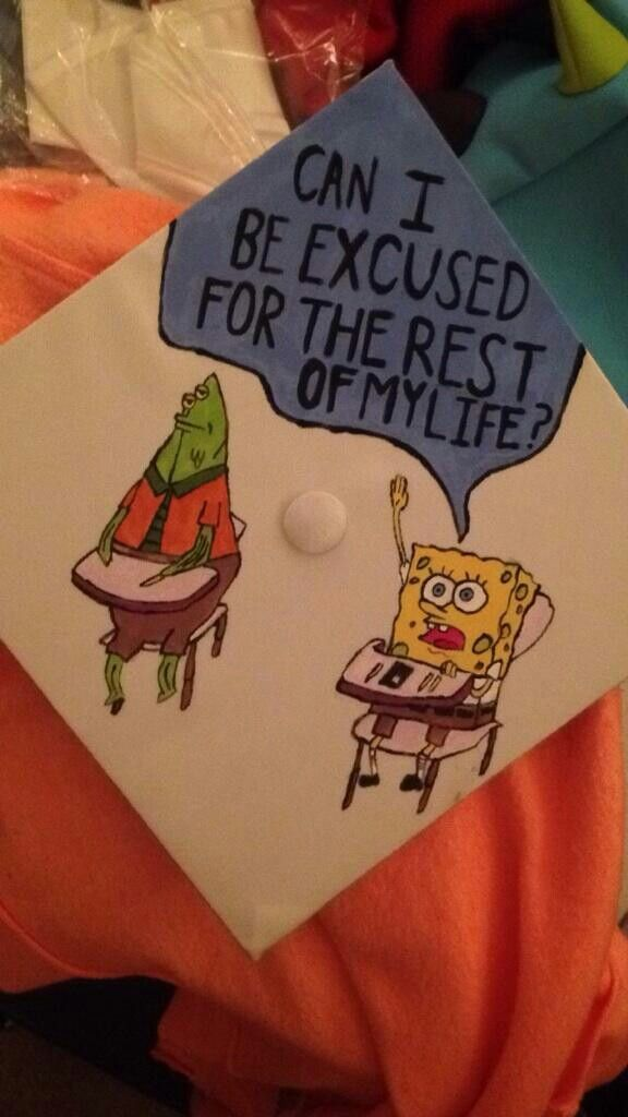 Spongebob Graduation Cap Design