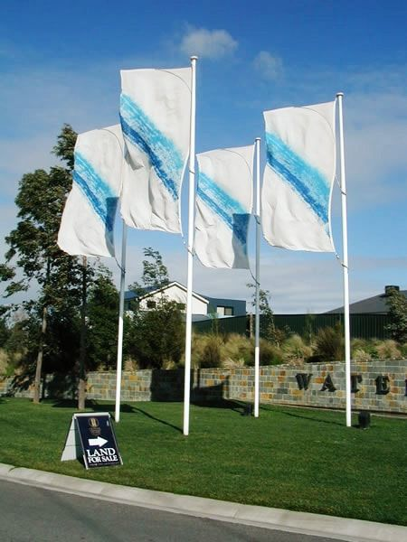 Flag poles for real estate.