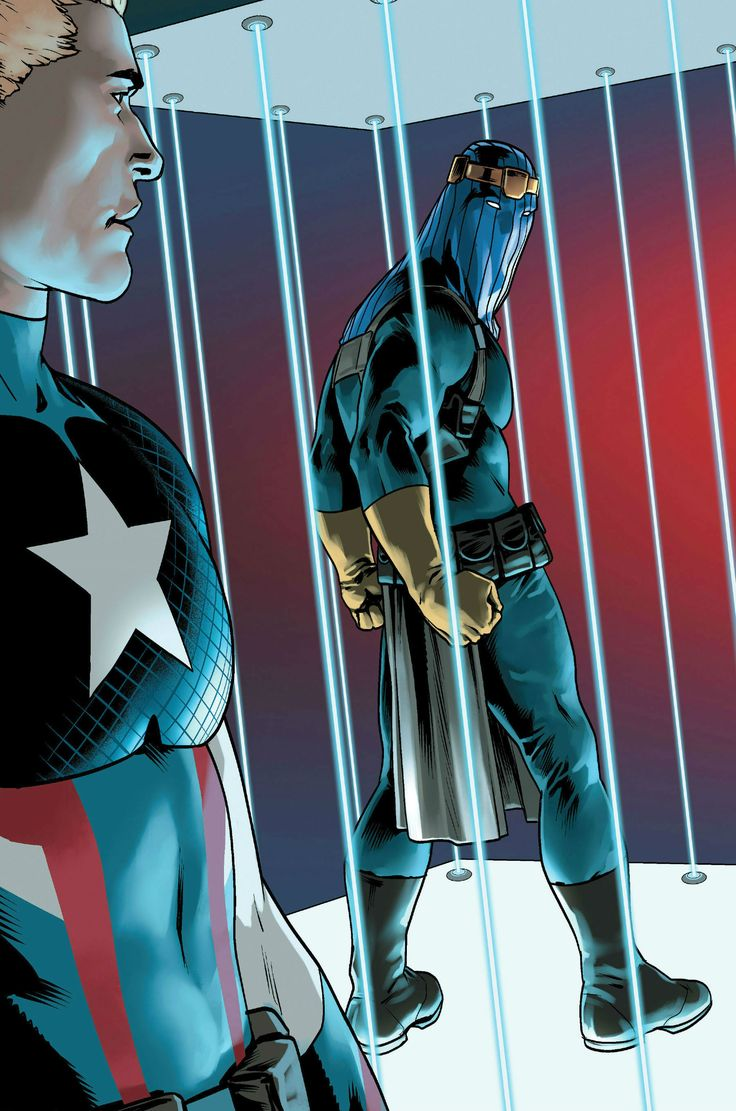 Captain America (Steve Rogers) and Baron Zemo by Jesús Saiz