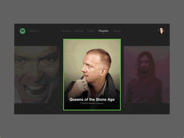 It's just an exercise using Principle to provide an idea how the interface inside an aesthetic appeal would be useful on PS4 or Xbox.  Is not my intention belittle Spotify, once I respect and admir...