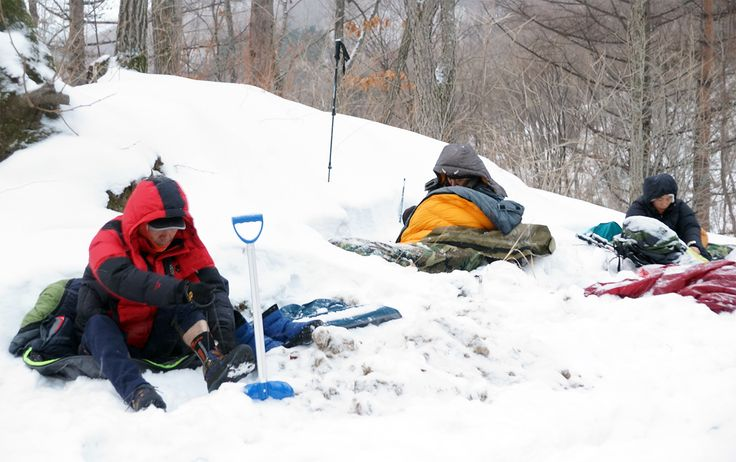 Winter backpacking.