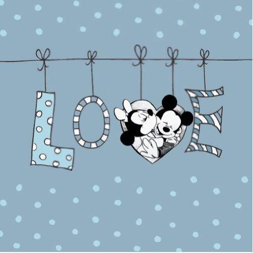 14 de de febrero, corazón, Minnie y Mickey, love