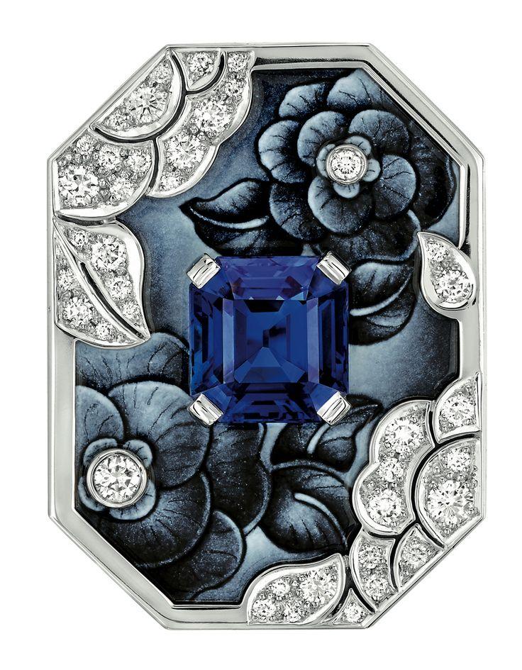 "#Chanel - ""Biennale 2014"" creation from ""Café Society"" collection - ""Vendôme Camélia"" #ring in 18-karat"