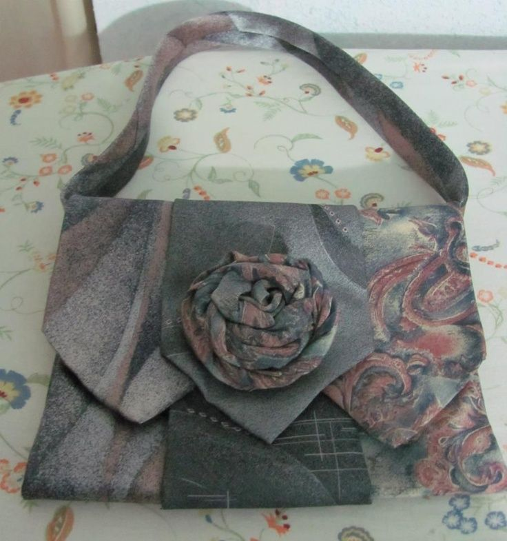 purses made from mens neckties | Evening handbag I just made out of 3 mens neck ties | CRAFTS