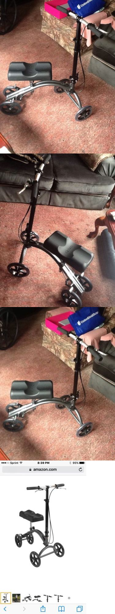 Crutches: Drive Medical Dv8 Aluminum Steerable Knee Walker Crutch Alternative-Drive Medica BUY IT NOW ONLY: $149.99