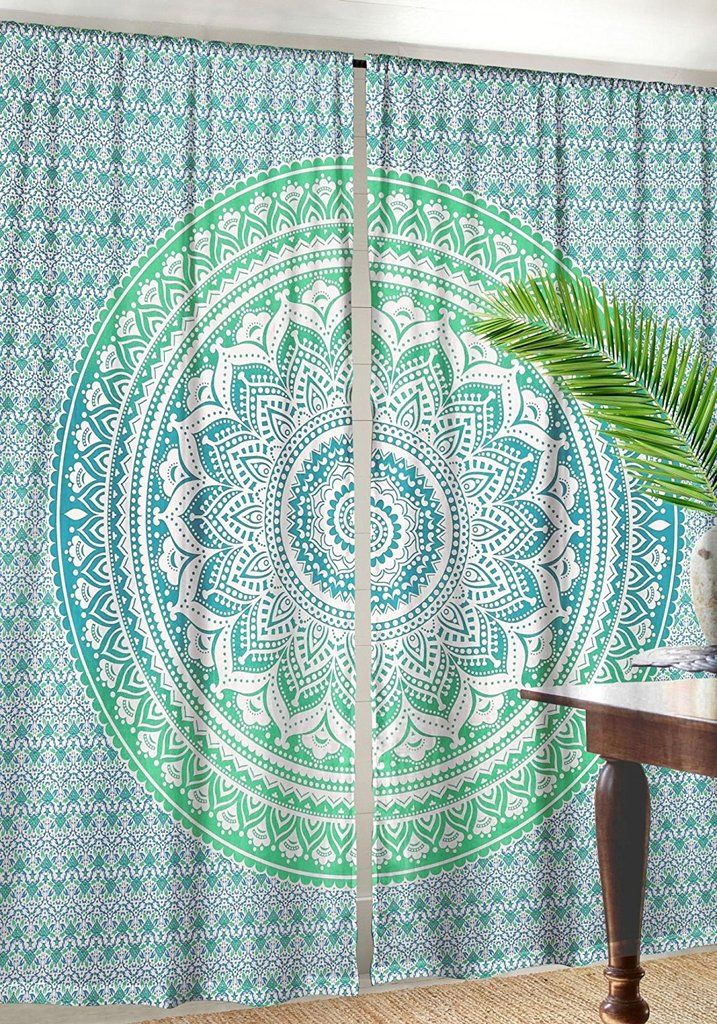 large tapestry curtains indian mandala window curtains drapes tapestries