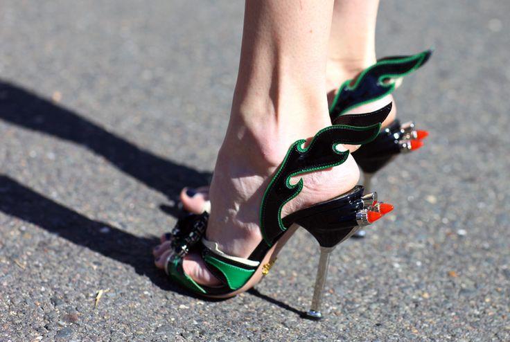 Prada car heels