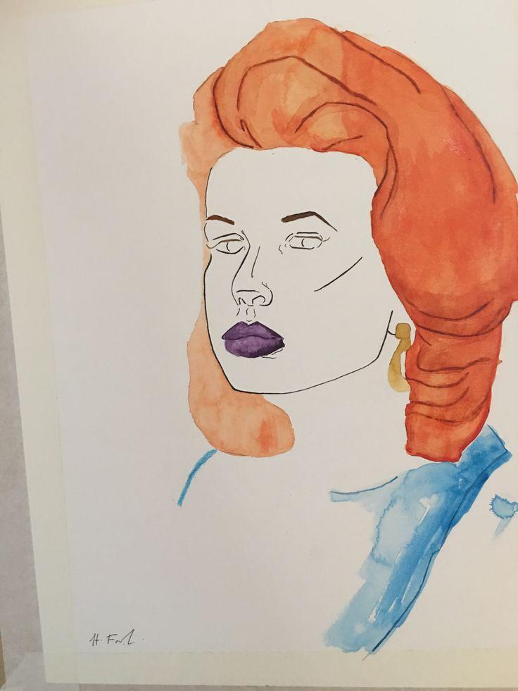 portrait  #portrait #art #artist #design #watercolour #painting #watercolourpainting #hayleyfrankart