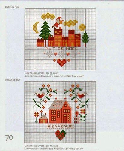 Victoria - Handmade Creations : Χαριτωμένα σχέδια για Χριστουγεννιάτικα κεντήματα