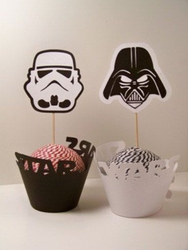 Star Wars Inspired Party Set 6 Cupcake Wrappers by PimpYourParty