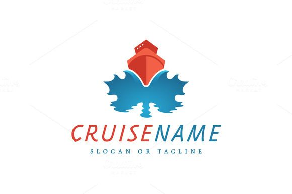 For sale. Only $29 - travel, ship, water, ocean, sea, maple, leaf, voyage, wave, marine, sail, vessel, blue, red, memorable, creative, modern, boat, cruise, transatlantic, tour, trip, transportation, cargo, shipping, freight, fishing, Canada, vacation, logo, design, template,