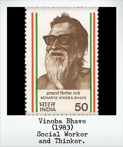 Vinoba Bhave (1983) – Social worker and thinker.